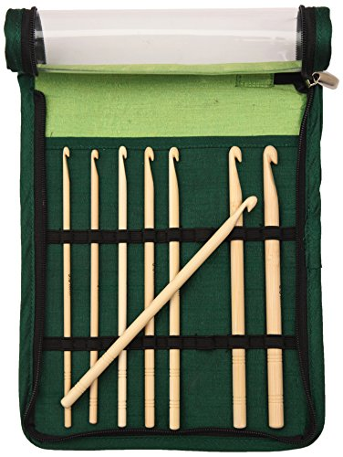 Knit Pro Bamboo Single Ended Crochet Hook Set by Knit Pro