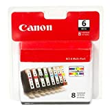Canon (4705A026) BCI-6 Color Ink Tank 8-Pack Set-Black
