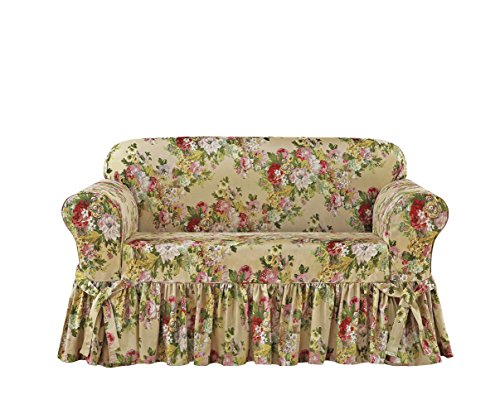 SURE FIT Juliet by Waverly One Piece Loveseat Slipcover - Bliss (Loveseats Style Country)