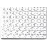 SanShun Blank Puzzle Jigsaw Puzzle 120 Pieces (6-Pack)