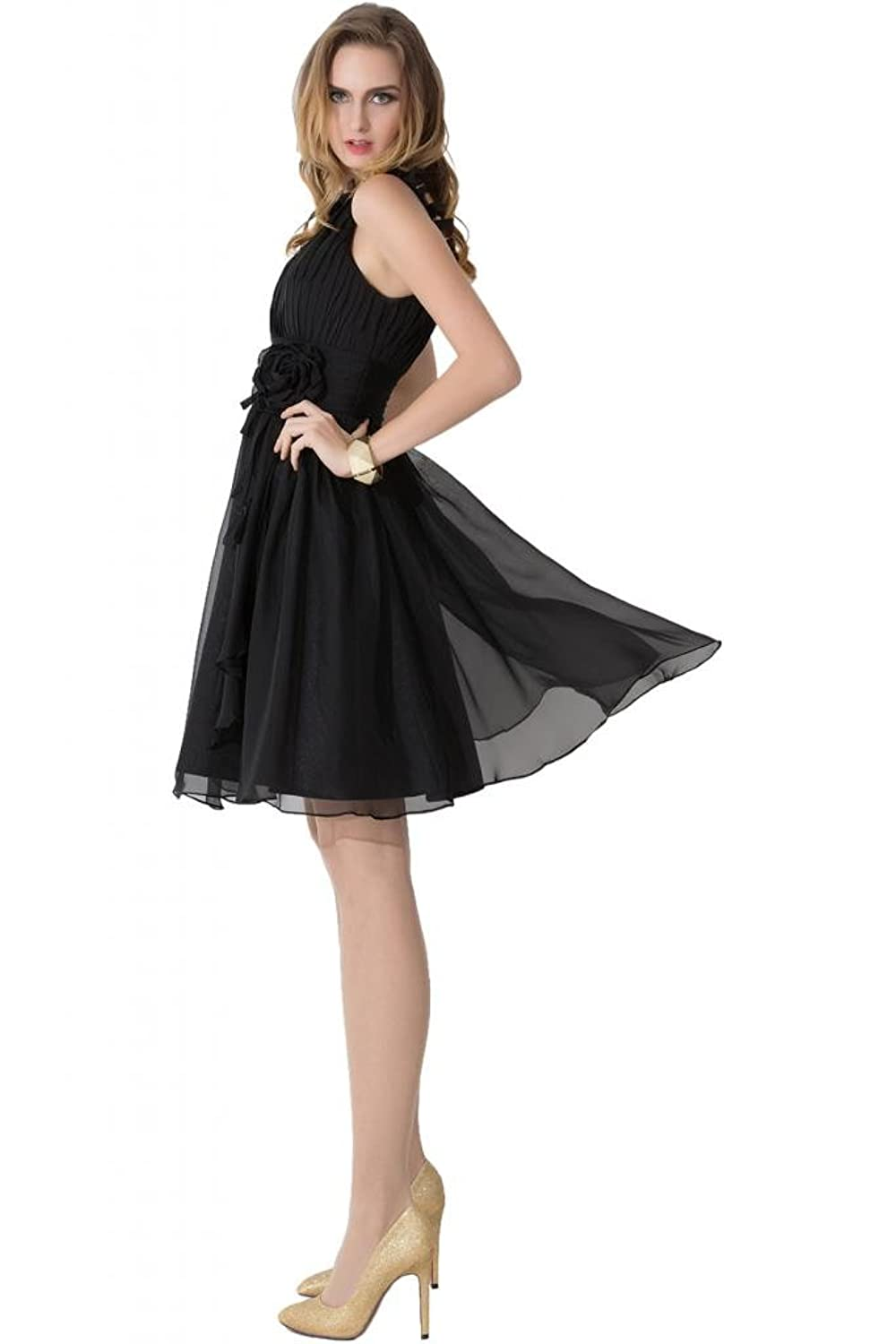 Sunvary Romantic One Shoulder Bodice Chiffon Cocktail Party Dresses