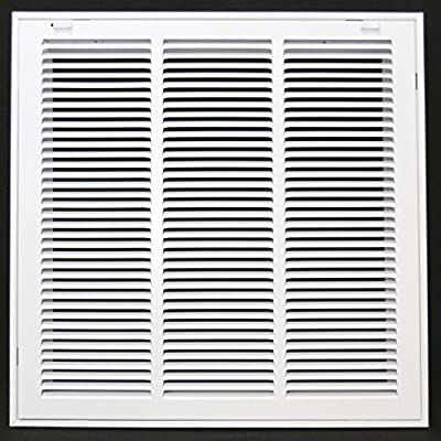 "18"" X 18 Steel Return Air Filter Grille for 1"" Filter - Removable Face/Door - HVAC DUCT COVER - Flat Stamped Face - [Outer Dimensions: 20.5""w X 20.5""h]"