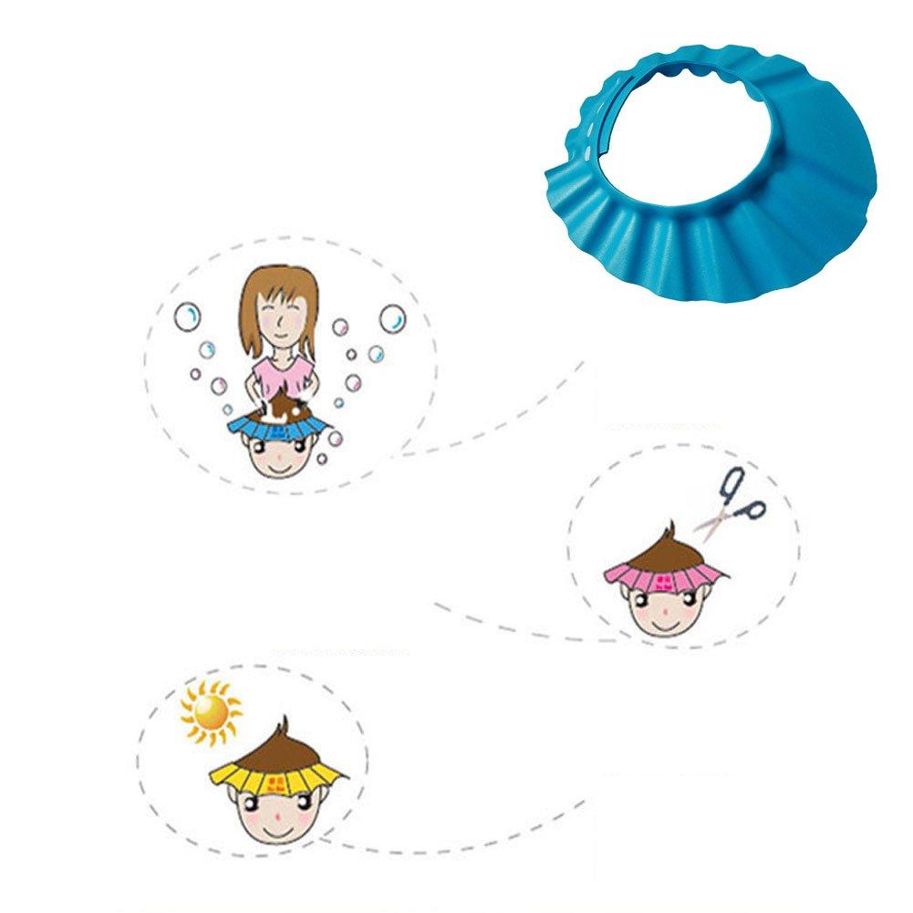 Cuffia da Bagno Doccia Regolabile per Bambini Neonati Vari ?xhforver Doccia Bagno Proteggere Regolare Cappello Della Protezione Morbida Per Il Bambino