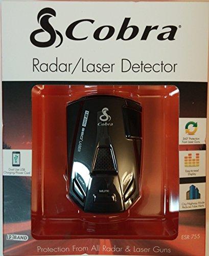 COBRA ESR-755 12 Band 360 Degree Radar/Laser Police Detector Car Protection