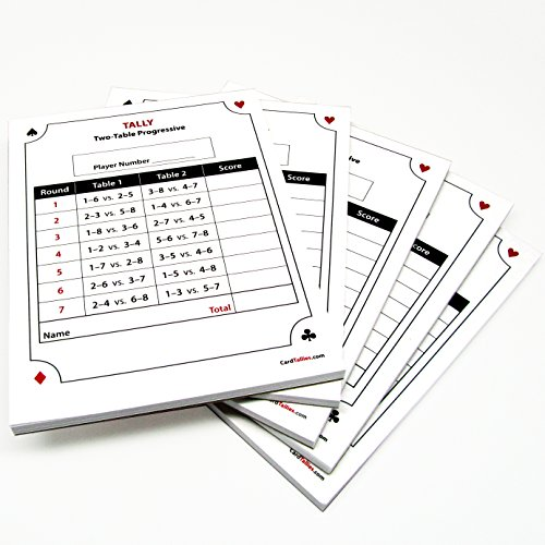 CardTallies Progressive Score Pads, 2-Table