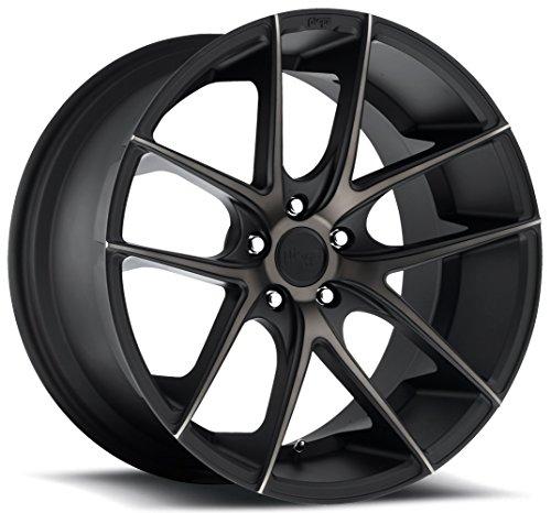 (Niche Targa 20 Black Flake Wheel / Rim 5x4.5 with a 35mm Offset and a 72.6 Hub Bore. Partnumber M130208565+35)