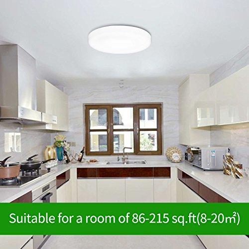 Uesen Plafonnier LED 18W Lampe De Plafond Rsistante Leau IP44 Equivalent