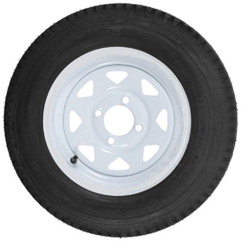2-Pack-Trailer-Tires-On-White-Rims-530-12-530-12-530-x-12-Load-C-4-Lug