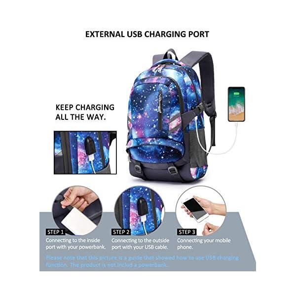 Zaino Scuola Superiore per PC 15.6 Pollici da ragazzo e ragazza, Backpack Portabile Casual Rucksack per Laptop… 4 spesavip
