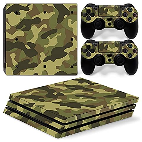 Chickwin PS4 Pro Vinyl Skin Full Body Cover Sticker Decal For Sony Playstation 4 Pro Console and 2 Dualshock Controller Skins (Army (Ps4 Hardrive 1tb)