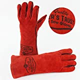 Heavy Duty Thick Welding Gloves - Medium Size Hands with...