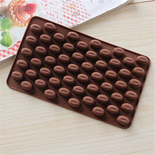 coffee bean chocolate candy silicone