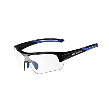 370916e254 ROCKBROS Unisex Photochromic Cycling Sunglasses UV Protection for Outdoor  Sports