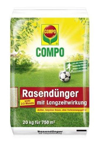 COMPO Rasendünger mit Langzeitwirkung 20 kg   für einen schönen Rasen