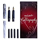 Office Products : Mont Marte Calligraphy Pen Set 8pce-2 nibs, 4 ink cartridges