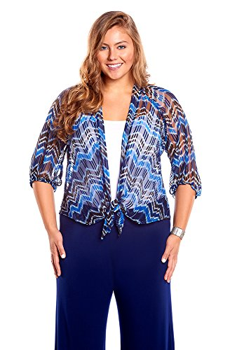 Always For Me Plus Size Chevron Jacket Coverup