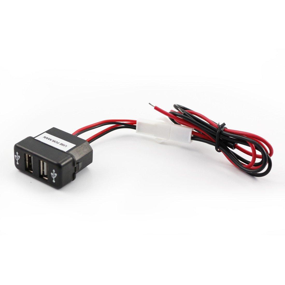 12//24/V max 3/a Precipitare Dual USB caricabatteria per Man Tga Tgl Tgm Truck Outlet Port OEM Fit