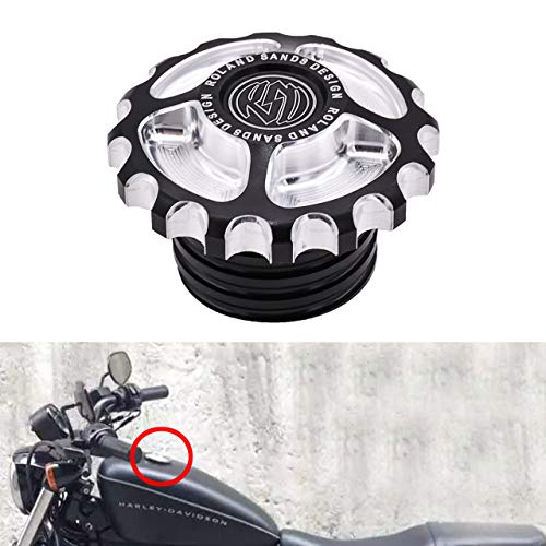 NATGIC 1 PCS Motorcycle CNC Fuel Tank Cap Fuel Cap for Harley Davidson Sportster XL 1200 883 X48 Dyna Softail FXD FL XL FLT Touring Road - Harley Flt Touring Motorcycles