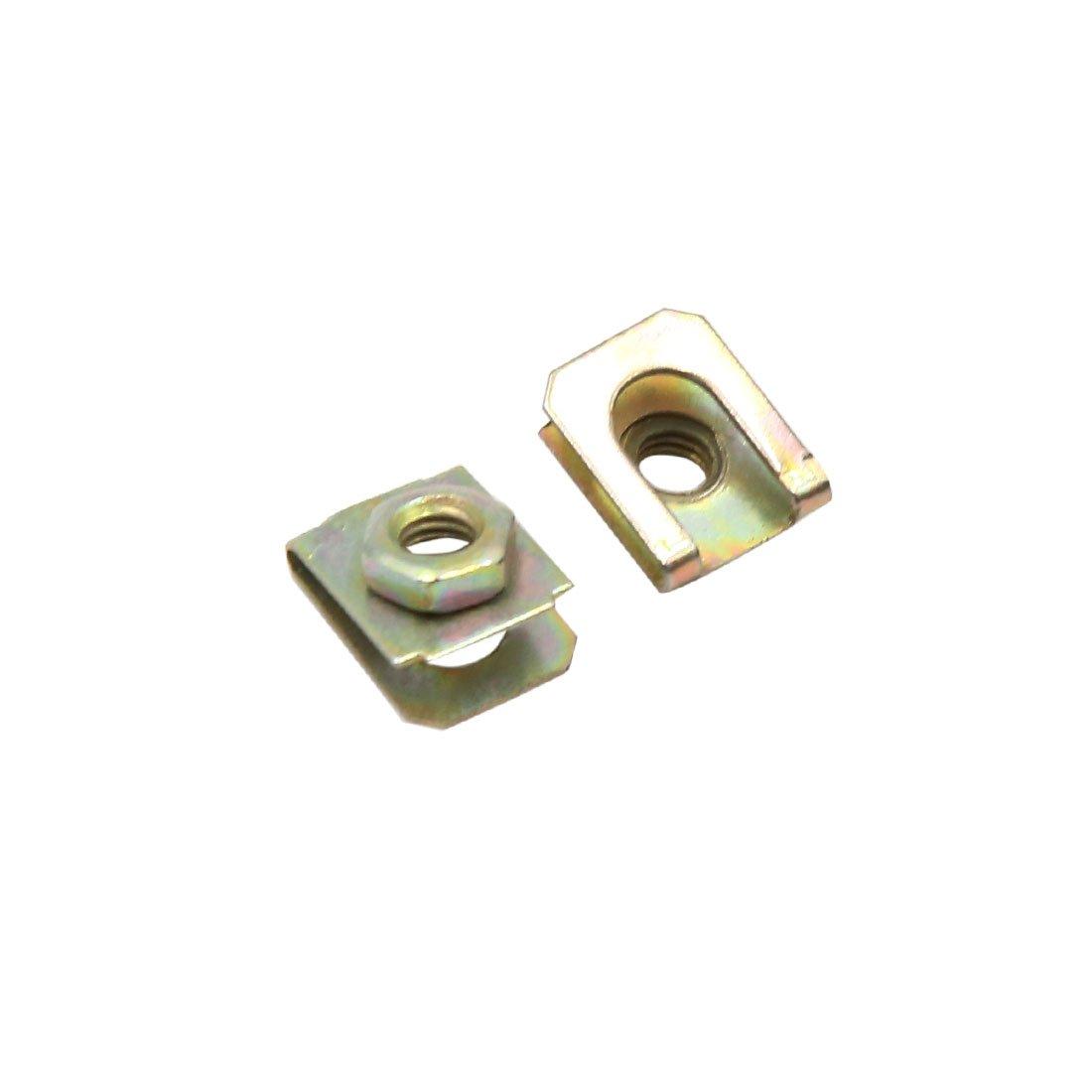 sourcingmap® 50pcs 5mm Diamètre trou ton bronze pour agrafes retenue vis métallique Panneau porte voiture Sourcing map a16112100ux1017