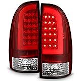 For 05-15 Toyota Tacoma Pickup Red Lens C-Shape LED Tube Tail Brake Light Lamp Assembly