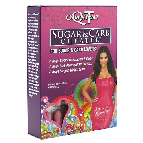QuickTrim Sugar & Carb Cheater - 60 Comprimés (1 Pack)