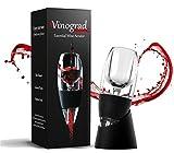 Wine Aerator Decanter Set with DOUBLE BONUS Wine Accessories - Wine Pourer Drip Stopper, Wine Vacuum Stopper - Red Wine Gift Box Set for Wine Lovers, Women, Men by Vinograd