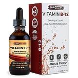 MAX ABSORPTION, Vitamin B12 Sublingual Liquid Drops, 3000mcg Methylcobalamin Per Serving, 60 Servings, Non-GMO, Vegan Friendly