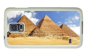 Hipster Samsung Galaxy S5 Cases funny Pyramids Egypt PC White for Samsung S5