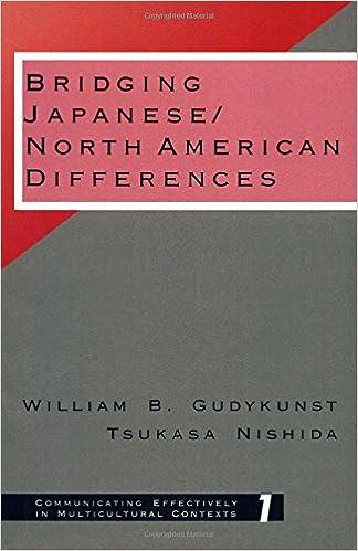 Laden Sie kostenlos ein englisches eBook als PDF herunter Bridging Japanese/North American Differences (Communicating Effectively in Multicultural Contexts) by William B. Gudykunst 0803948352 in German PDF iBook PDB
