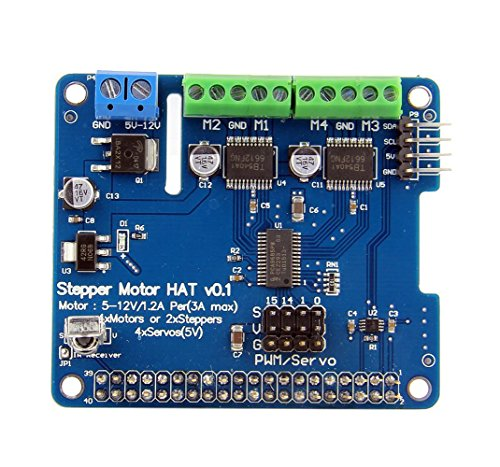 Wingoneer Raspberry Pi 3 Stepper Motor Hat Full Function