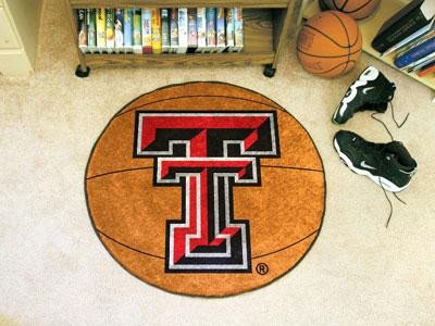 Fanmats Texas Tech Red Raiders Basketball-Shaped Mat