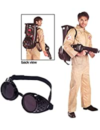 Ghostbusters Adult Costume with Black Goggles