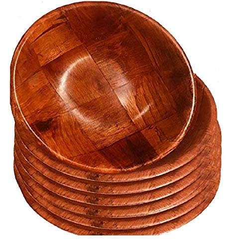 - Wooden Woven Salad Bowl, Woven Wood Snack Bowls 8