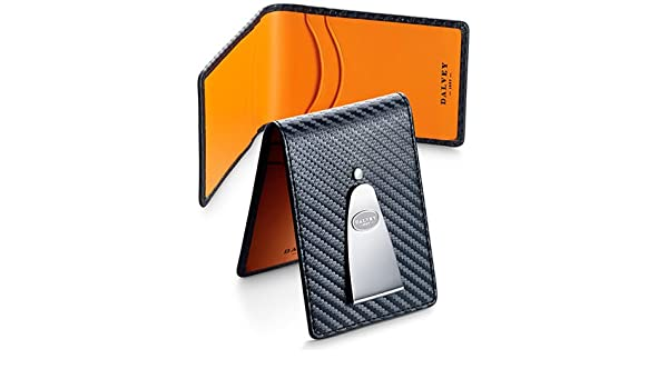 Amazon.com: Dalvey Insignia Credit Card & Money Clip Black/Orange: Sports & Outdoors