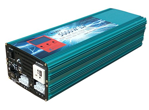 NEW 20000W peak 5000W LF Pure Sine Wave Power Inverter DC 24V to AC 110V, with 80A BC / UPS / LCD display - Jeep Version