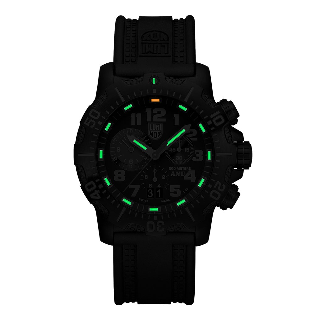 c91b44f6f Luminox Authorized for Navy Use (A.N.U.) Chronograph Men's Quartz watch  with Black dial featuring LLT Luminox light Technology 45 millimeters  Stainless ...