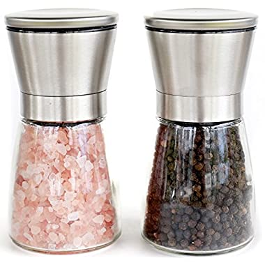 Willow & Everett Salt and Pepper Grinder Set with Matching Stand, 5-inches