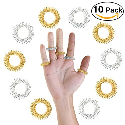 Tinksky Acupressure Massage Rings-Chinese Medicine-10pcs (Random Color)