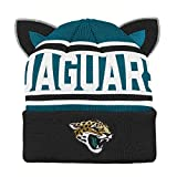 Outerstuff NFL Jacksonville Jaguars Team Ears Fleece Knit Hat Black, Infant One Size