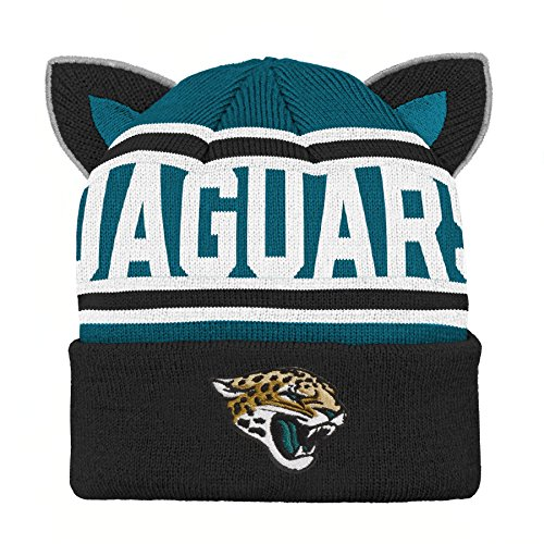 NFL Jacksonville Jaguars Team Ears Fleece Knit Hat Black, Infant One Size