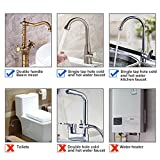 HOMEIDEAS 32-Inch Faucet Connector 3/8-Inch Female Compression Thread x M10 Male Stainless Steel Braided Supply Hose Connector Pack of 2(1 Pair)