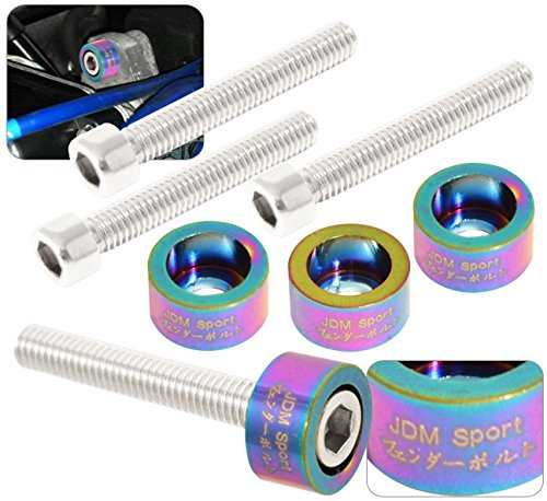 Acura Honda B-Series B16 B18 Jdm Distributor Cam Cup Washer Bolt Kit Neo Chrome (1987 Honda Distributor Civic)