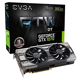 EVGA GeForce GTX 1070 FTW DT GAMING ACX 3.0, 8GB GDDR5, RGB LED, 10CM FAN, 10 Power Phases, Double BIOS, DX12 OSD Support (PXOC) Graphics Card 08G-P4-6274-KR (B01IA9HLMM) | Amazon price tracker / tracking, Amazon price history charts, Amazon price watches, Amazon price drop alerts