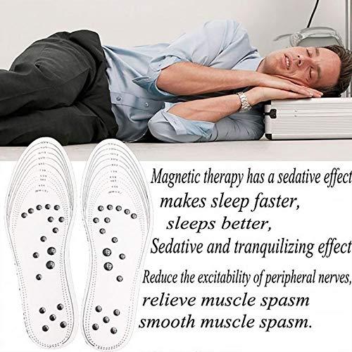 Majome Magnetische Orthop/ädische Einlegesohlen Insole 1 Paar Akupressur Magnetische Massage Fu/ßsohle Transparent Therapie Reflexzonenmassage Schmerzlinderung Pads