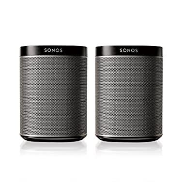 SONOS PLAY:1 2-Room Streaming Music Starter Set Bundle (Black)