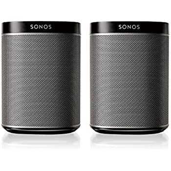 Sonos PLAY:1 2-Room Wireless Smart Speakersfor Streaming Music - Starter Set Bundle (Black)