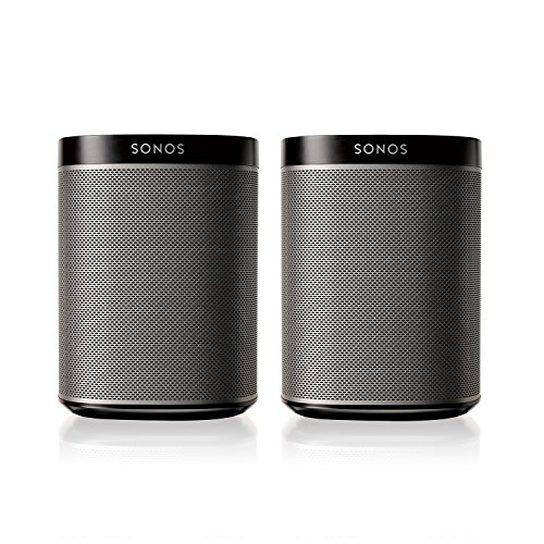 Sonos PLAY:1 2-Room Wireless Smart Speakers for Streaming Music - Starter Set Bundle (Black), Works with Alexa