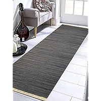 Rugsotic Carpets Hand Weave Kelim KELIM WOOL 3 x 13 Contemporary Area Rug Silver D00111