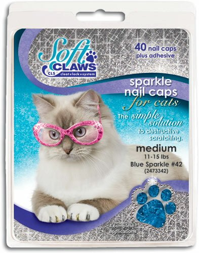 Canine Soft Claws Nail Caps, XX-Large, Blue
