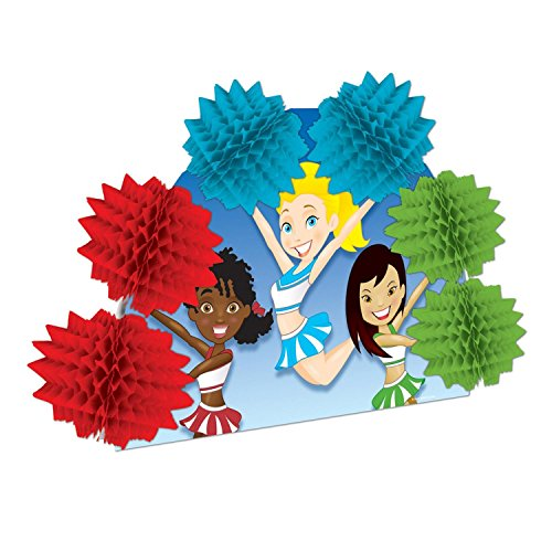 Club Pack of 12 Cheerleading Pop-Over Honeycomb Centerpiece Party Decorations 10